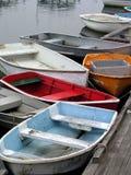 Botes de remos en una fila Imagen de archivo libre de regalías