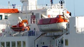 Botes de salvamento de la emergencia Fotografía de archivo
