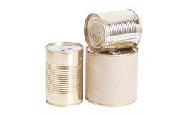 Boîtes en métal scellé Photo stock
