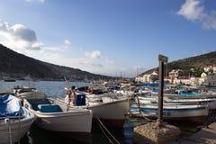 Botes na baía Fotos de Stock