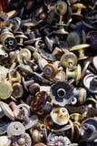 Botões no mercado de pulga Imagem de Stock Royalty Free