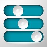 Botões para o símbolo de comutação Fotografia de Stock
