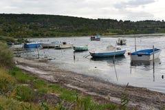 Botes pequeños en el sur de Francia Fotografía de archivo