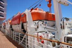 Botes salvavidases Foto de archivo libre de regalías