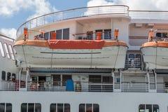 Botes salvavidases de alta mar de la emergencia de la nave Imagenes de archivo