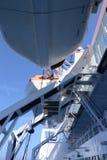 Botes salvavidases de la nave de pasajero Fotografía de archivo