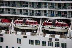 Botes salvavidases del revestimiento marino Foto de archivo