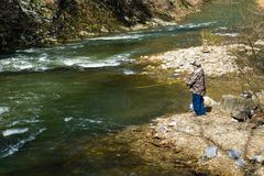 Trout Fishing on the Jennings Creek stock photos