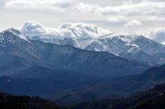 Botev enarbola, montaña balcánica central, Bulgaria Fotografía de archivo libre de regalías