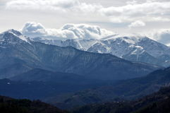 Botev peak, Central Balkan Mountain, Bulgaria. The Balkan mountain range( Stara planina, Old Mountain) is a mountain range in the eastern part of the Balkan royalty free stock photography