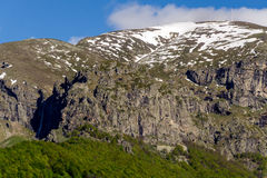 Botev peak in Stara Planina mountain, Bulgaria. Close-up of snow covered Botev peak in Stara Planina mountain, Bulgaria Royalty Free Stock Image