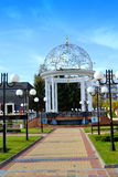 Botevgrad town square colonnade Royalty Free Stock Images