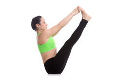 Both big toe yoga pose Stock Photo