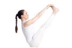 Both big toe yoga pose Royalty Free Stock Photo