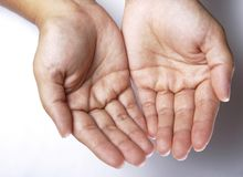 Both hands Royalty Free Stock Photography