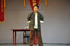 Both hands akimbo-Jiangxi OperaBlue coat Royalty Free Stock Photos