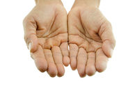 Both hands outstretched splice Royalty Free Stock Photography