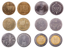 Israeli Coins - Frontal Stock Photo