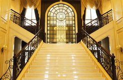 On both sides of the stairs to the separation Royalty Free Stock Photo
