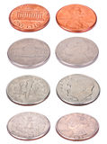 American Coins - High Angle Royalty Free Stock Photo