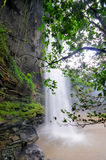 Boti Falls, Ghana. Boti Falls is a 30m high waterfall within the Boti Forest Reserve about 30 minutes east of Koforidua. Situated in a village called Boti in the Stock Image
