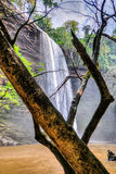 Boti Falls, Ghana. Boti Falls is a 30m high waterfall within the Boti Forest Reserve about 30 minutes east of Koforidua. Situated in a village called Boti in the Royalty Free Stock Images