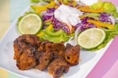 Boti Kebab,传统上更多世界的香料kebab 免版税库存图片
