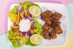 Boti Kebab,传统上更多世界的香料kebab 图库摄影