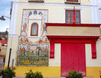 Botica-Zentrale in Noguera-Straße von Xativa stockbilder