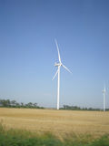 Botievo wind farm. Near coast Azov sea  Ukraine Royalty Free Stock Photo