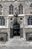 Botines宫殿在利昂,卡斯蒂利亚y利昂 库存图片