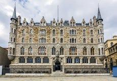 Botines宫殿在利昂,卡斯蒂利亚y利昂 免版税图库摄影