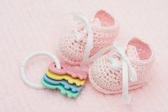 Botines del bebé Imagen de archivo