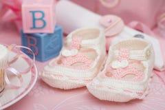 Botines del bebé Imagen de archivo libre de regalías