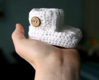 Botines hecho a ganchillos Fotos de archivo libres de regalías