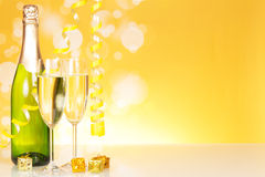 The botle of champagne Stock Photography