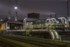 Industrie in The Botlek. The Botlek area is characterized mainly by petrochemical industry and tank storage companies, and the storage of dry bulk goods royalty free stock image