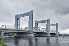 Botlek-Brücke in Rotterdam, die Niederlande Lizenzfreies Stockfoto