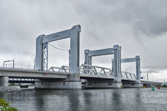 Botlek bro i rotterdam, Nederländerna Royaltyfri Foto