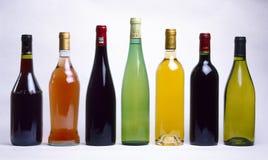 Botles Assorted di vino Fotografie Stock Libere da Diritti