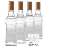 Botlles of vodka Royalty Free Stock Image