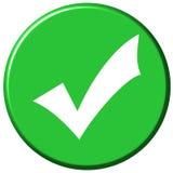 Botón ACEPTABLE Foto de archivo libre de regalías