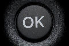 Botón aceptable Foto de archivo