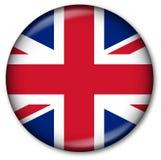 Botón BRITÁNICO del indicador del estado Imágenes de archivo libres de regalías