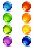 Botón de cristal Foto de archivo libre de regalías
