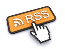 Botón de la alimentación de Rss Fotografía de archivo libre de regalías