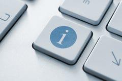 Botón de la información Fotos de archivo libres de regalías