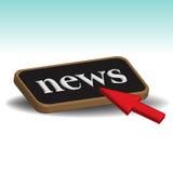 Botón de las noticias Fotografía de archivo libre de regalías