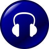Botón de los auriculares Fotos de archivo libres de regalías