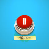 Botón de pánico Foto de archivo libre de regalías
